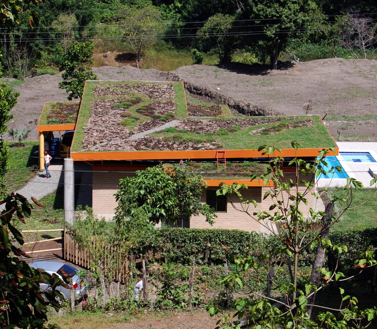 construcción ecológica, techos verdes medellín